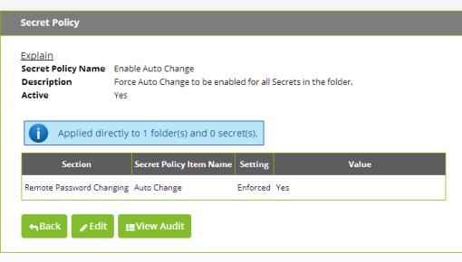 Secret Server Secret Policy